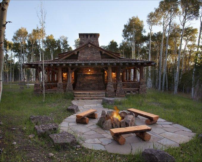 Beautiful Log Home With Wrap Around Porch Log Homes