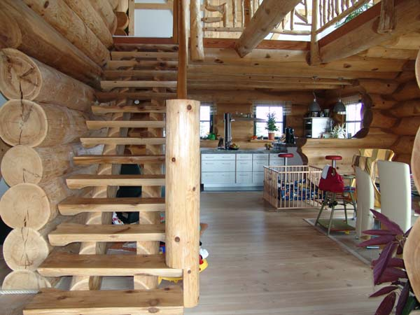 Beautiful log home inside