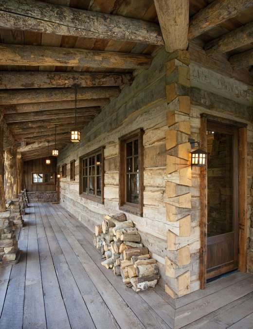 Beautiful Log Home With Wrap Around Porch Log Homes