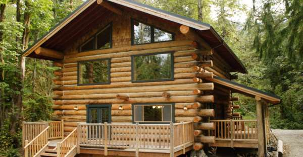 Log home built by couple