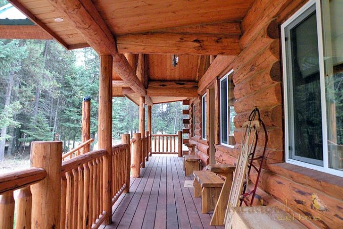 Log home kit porchh