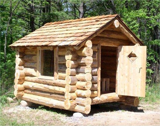 The log house sauna