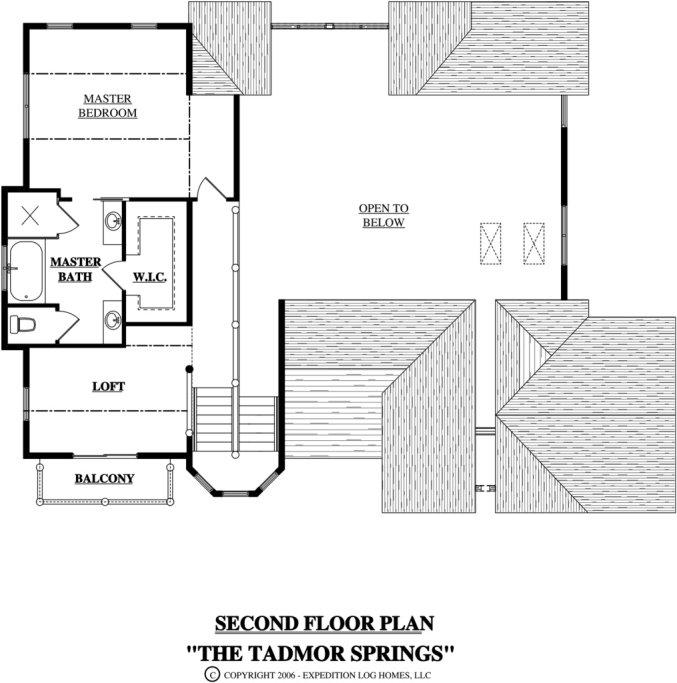 Log home in Montana flooe plan