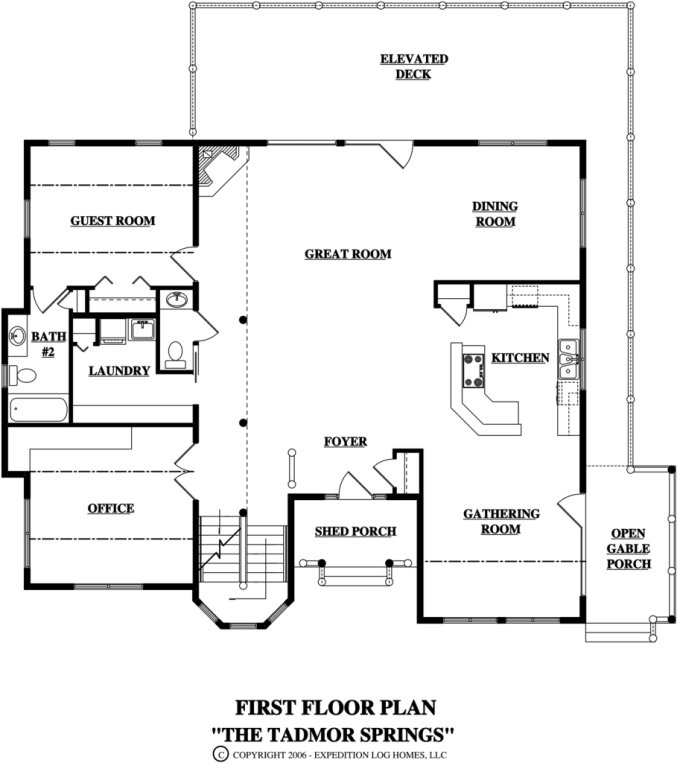 Log home in Montana floor plan