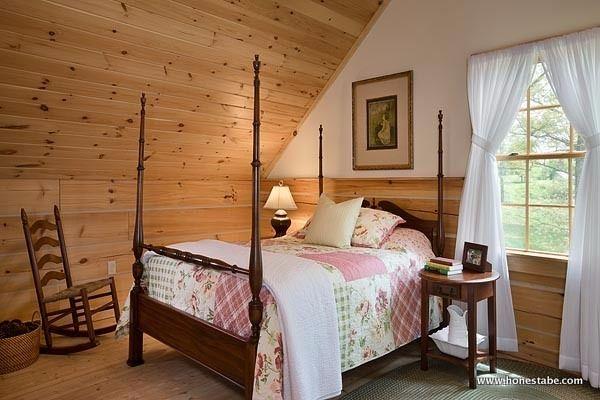 Log cabin family home loft