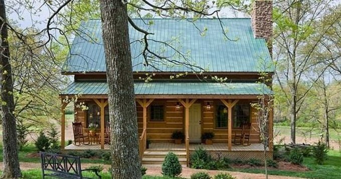 Log cabin family home