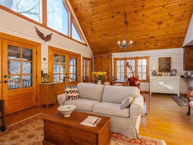 Log home sale inside