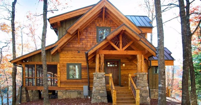 Retreat log home