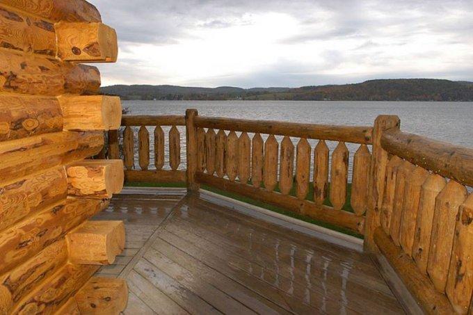 Log home with lake view