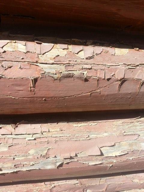 Log stain cracking