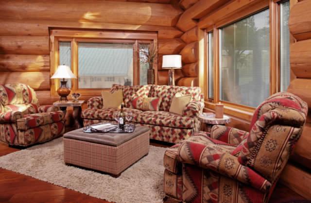 Beautiful log home interior