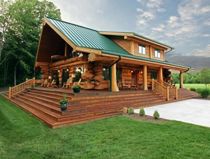 Beautiful Log Home With Alluring Interior Page 2 Log