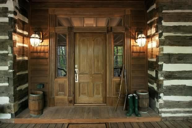 Old Style Hand Hewn Log Home Restored Page 2 Log Homes