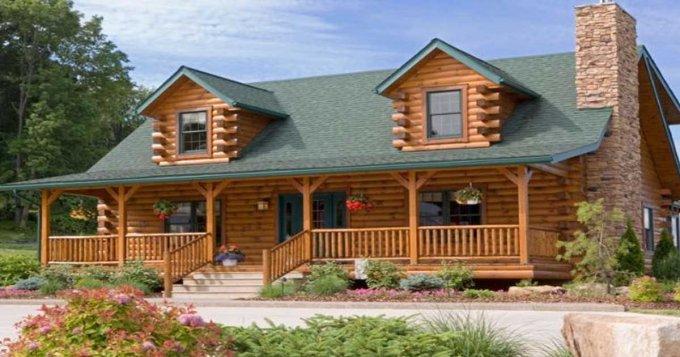 Classic log home