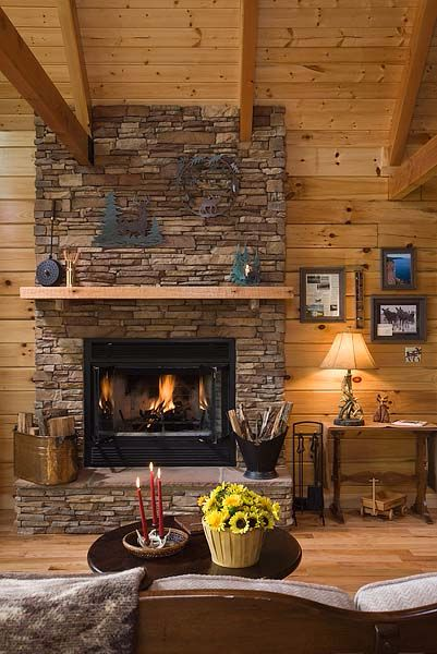 Country style log home inside