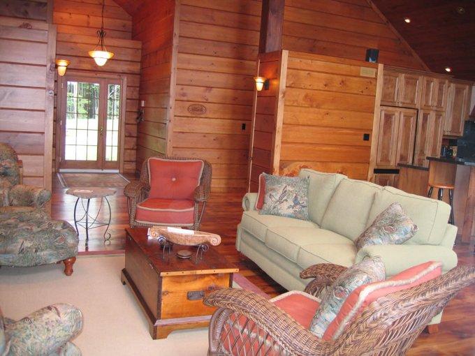 Log home inside