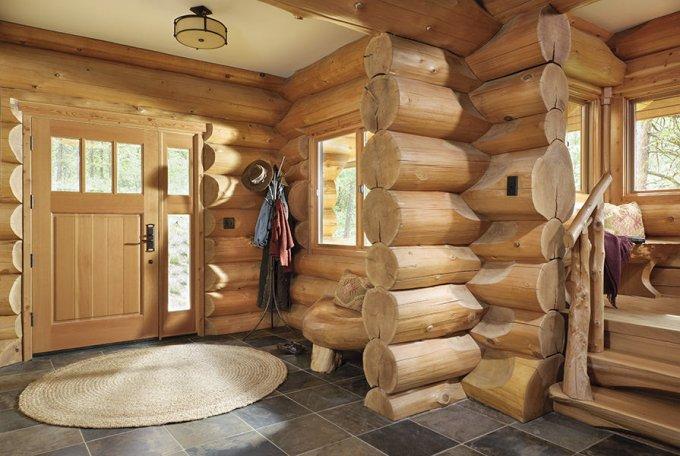 Mountain log home interior