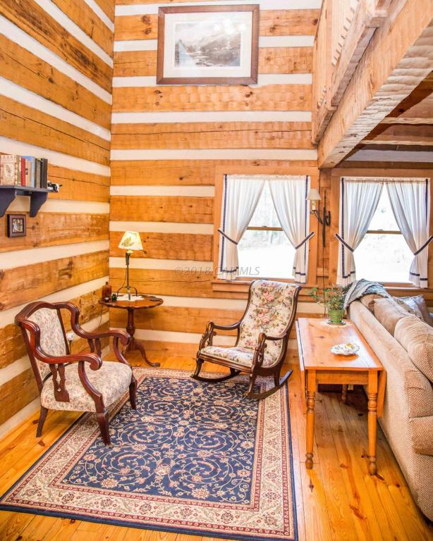 Hearthstone log home inside