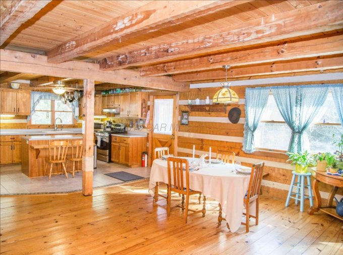 Hearthstone log home interior