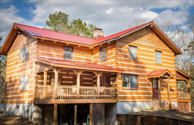 Hearthstone log home