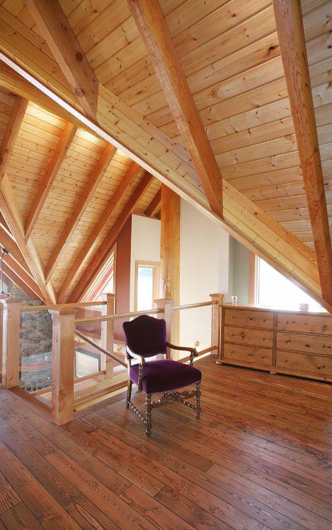 Log house loft
