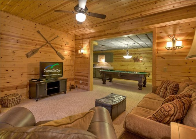 Mountain retreat basement
