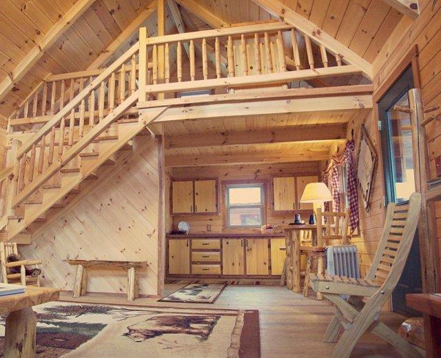 Supreme log cabin inside