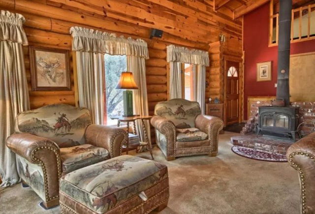 Cozy log home interior