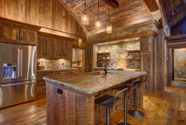 Timber log home