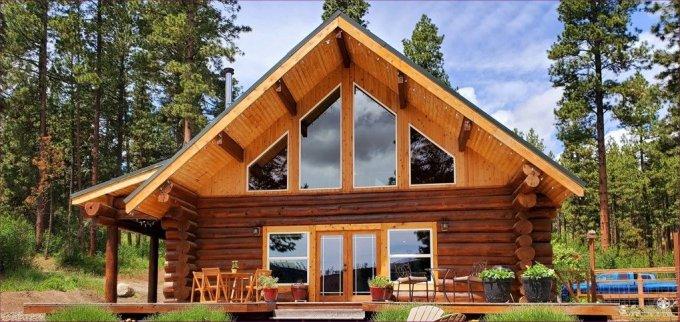 Fir log home