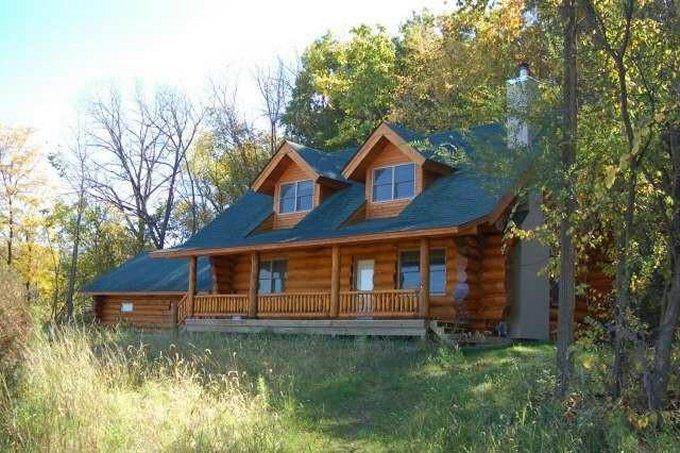 Backwoods log home