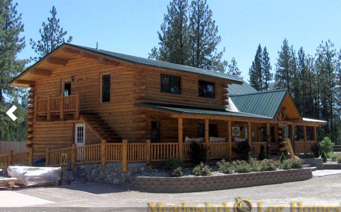 Amish log home