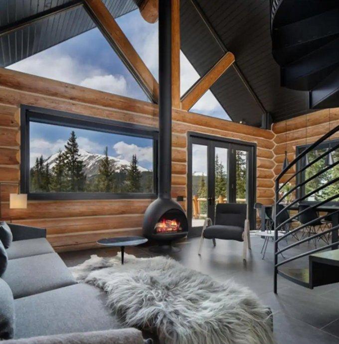 Log home in Colorado