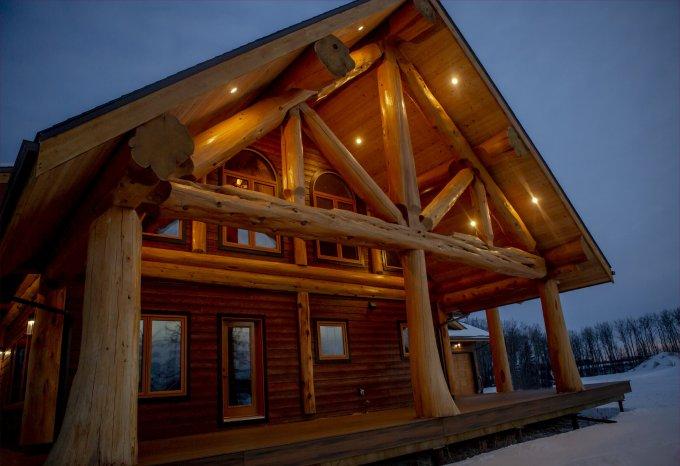 Cedar log home