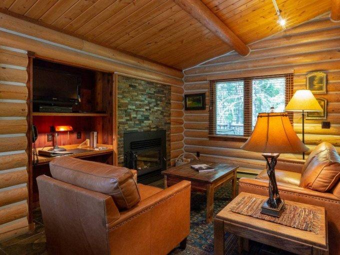 Log house inside