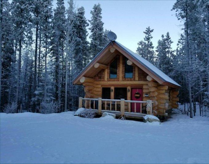 Yukon log cabin