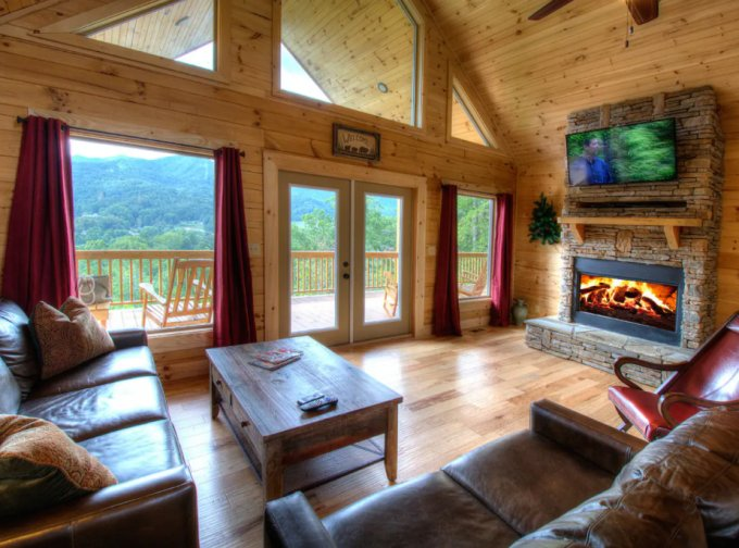 Log cabin inside