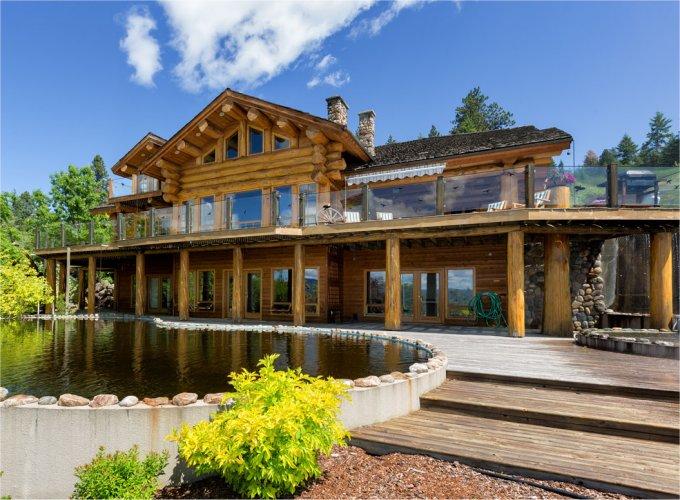 Vernon log home