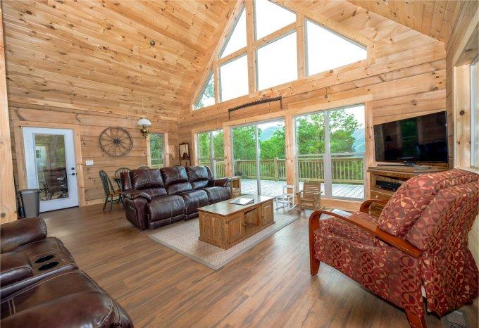 Log cabin in NC