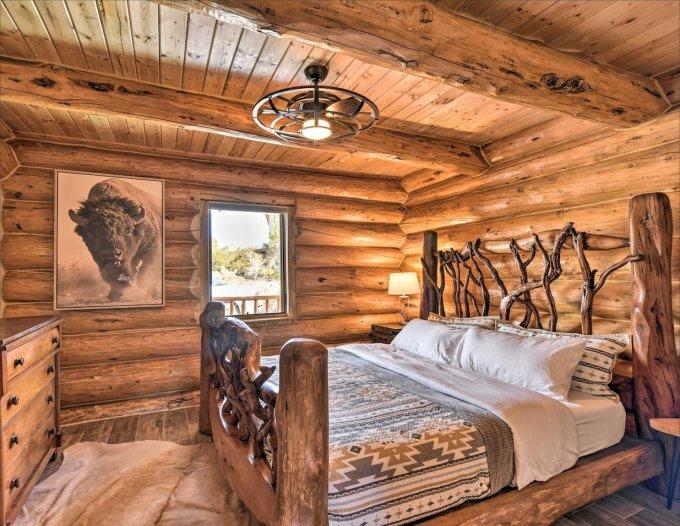 Riverfront log cabin