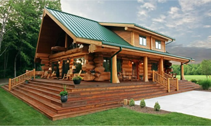 Tiny Home Designs: Beautiful Log Home With Alluring Interior