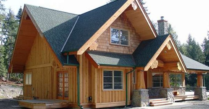 This Hybrid Log Home Design Is A Very Economical Two Bedroom Structure Post  And Beam Homes