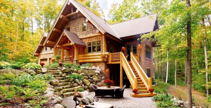 Hybrid log home