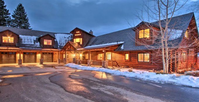 Big Sky log home