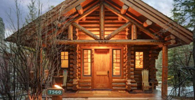 Log cabin in Wyoming
