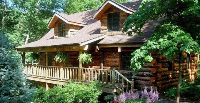 Spruce log cabin